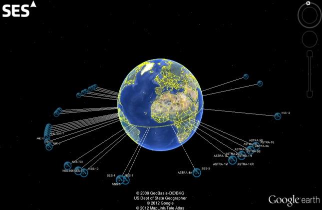 térkép műhold Műholdak keringnek a Google földgömbje körül térkép műhold