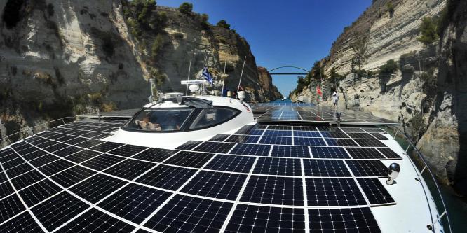 Európa leg�sibb falvát kutatja a napelemes hajó