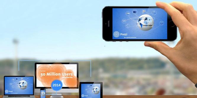 Mobilról tarthat el�adást a Prezi appjával