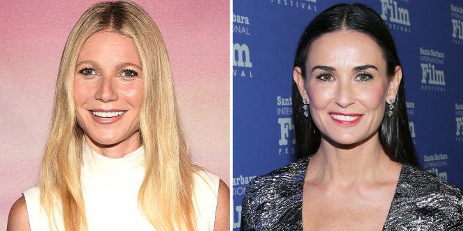 Bevállalták: smink nélkül szelfizett Gwyneth Paltrow Demi Moore-ral