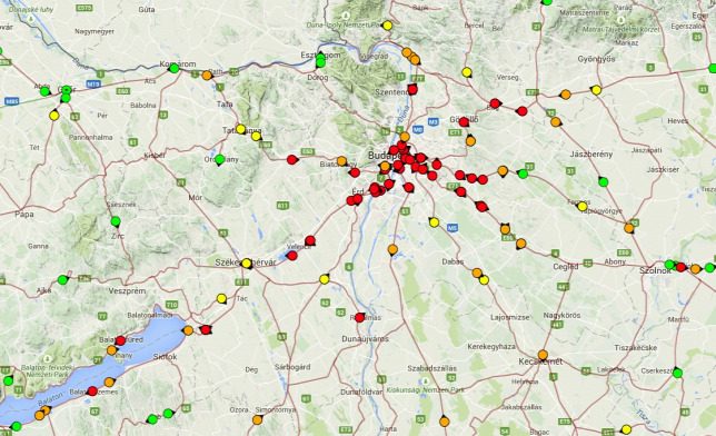 mav start térkép Tombol a vihar Budapesten, megbénult a közlekedés mav start térkép
