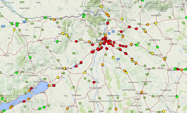 máv start térkép Tombol a vihar Budapesten, megbénult a közlekedés máv start térkép