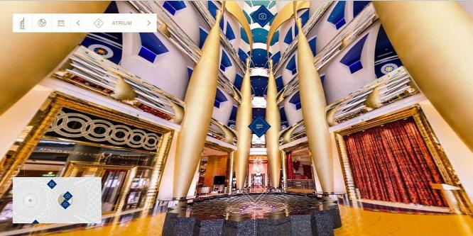 Most bárki körbenézhet a világ legfény�z�bb szállodájában