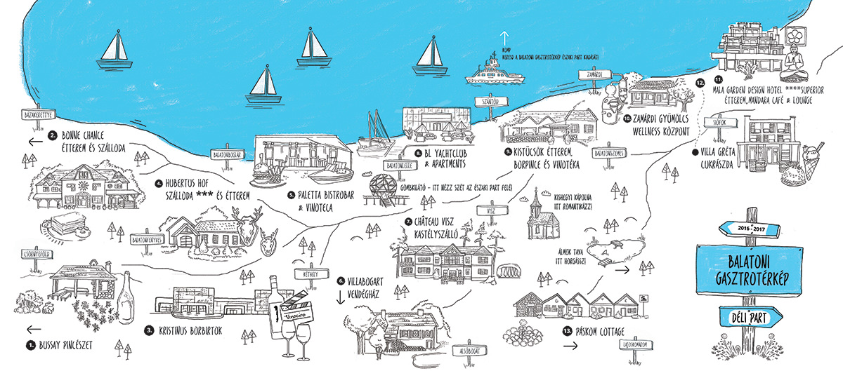 balaton déli part részletes térkép A Balatonnál jót enni? Meglepő, de lehetséges! balaton déli part részletes térkép