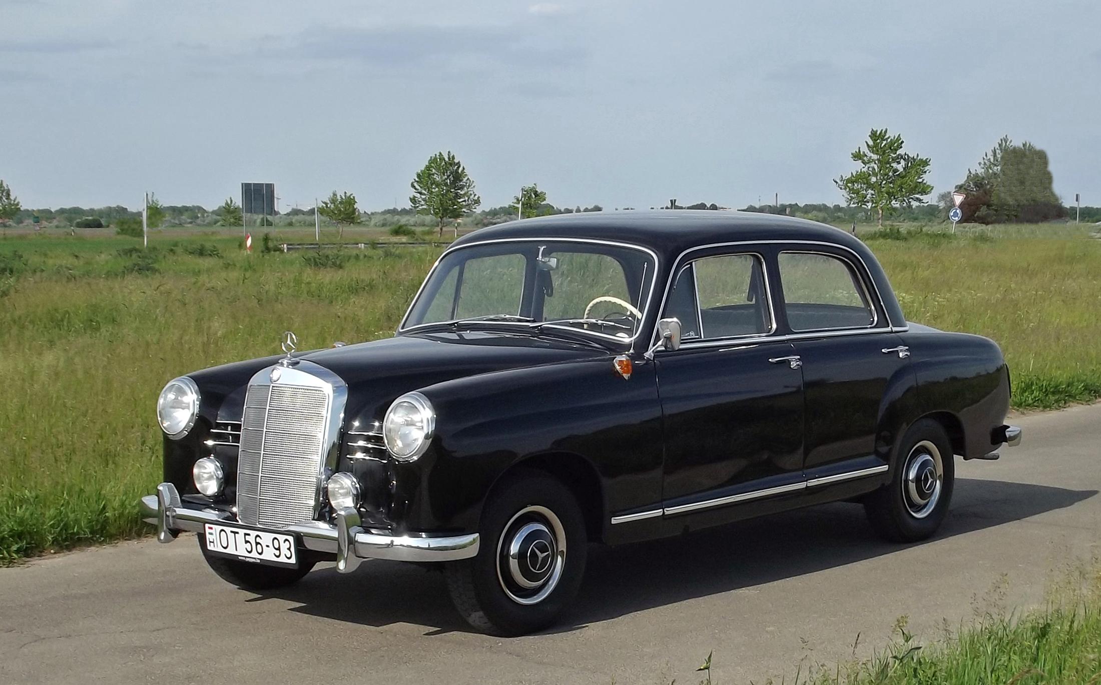 Az els modern mercedes mercedes benz ponton 180a 1959 for Mercedes benz ponton