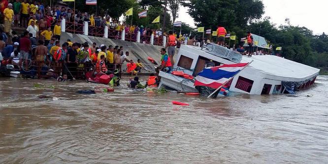 Zarándokok haltak meg egy thaiföldi hajótörésben