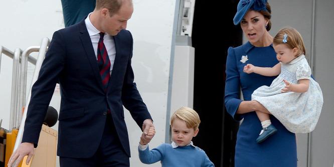 György herceg karácsonykor is rövidnadrágban van
