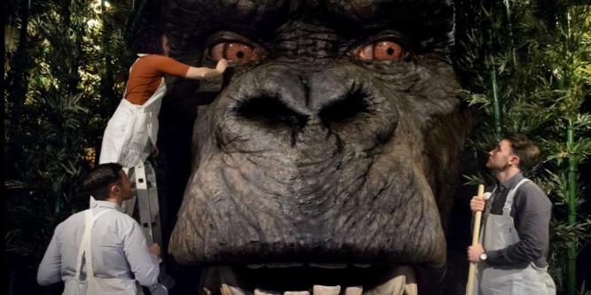 Óriási King Kong-fejet állítottak ki New York belvárosában