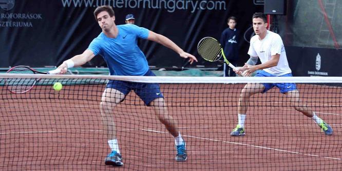 Továbbjutott a magyar páros a pesti ATP-tornán