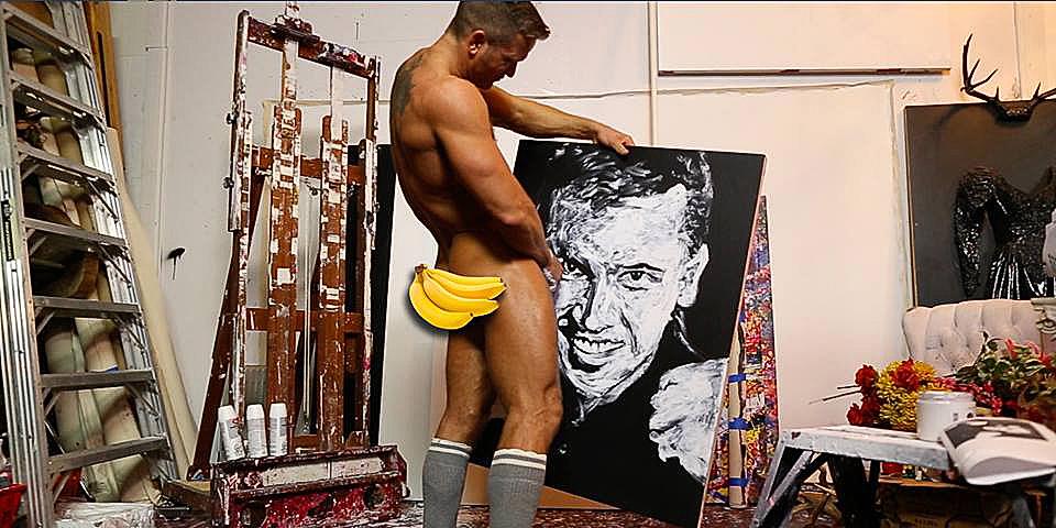 A férfi, aki a péniszével fest: Sok év gyakorlás kell egy alkotáshoz (18+)
