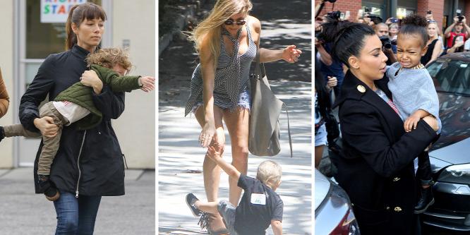 Hírességek és hisztis vagy szemtelen gyerekeik - Kim Kardashiantól Fergie-ig