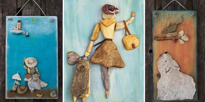 Kavicsból és kőből készít képeket a magyar alkotó
