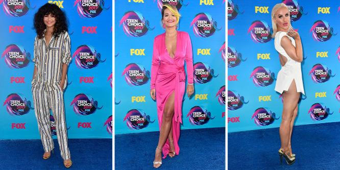 Pizsama, buggyos ujj, pucér fenék: Ruhamustra a Teen Choice Awardsról