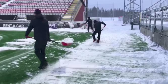 Szorgos kezek segítettek Östersundban az EL-meccs előtt