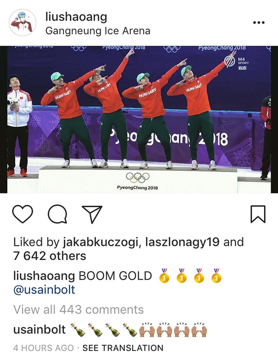 Friss hírek: A jamaicai sprinter az Instagramon reagált az aranyérmes csapat tagjának, Liu Shaoangnak.
