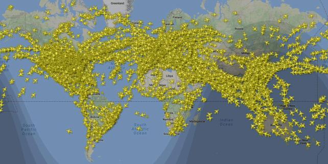 Forrás: Facebook/Flightradar24.com