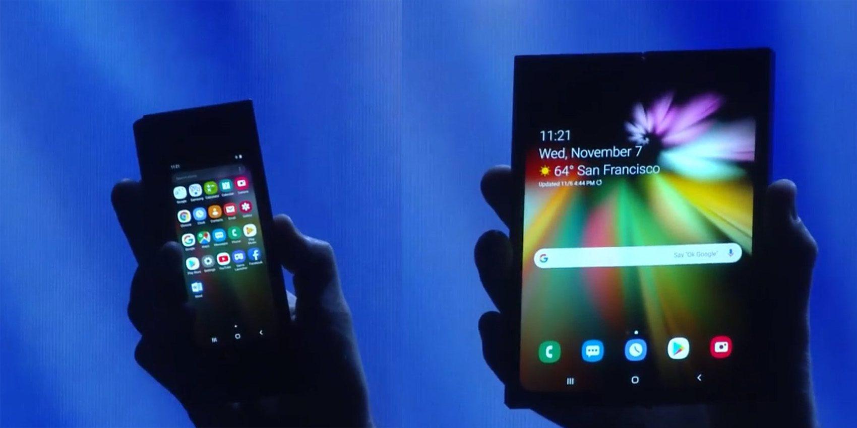 Ilyen a Samsung összehajtható mobilja