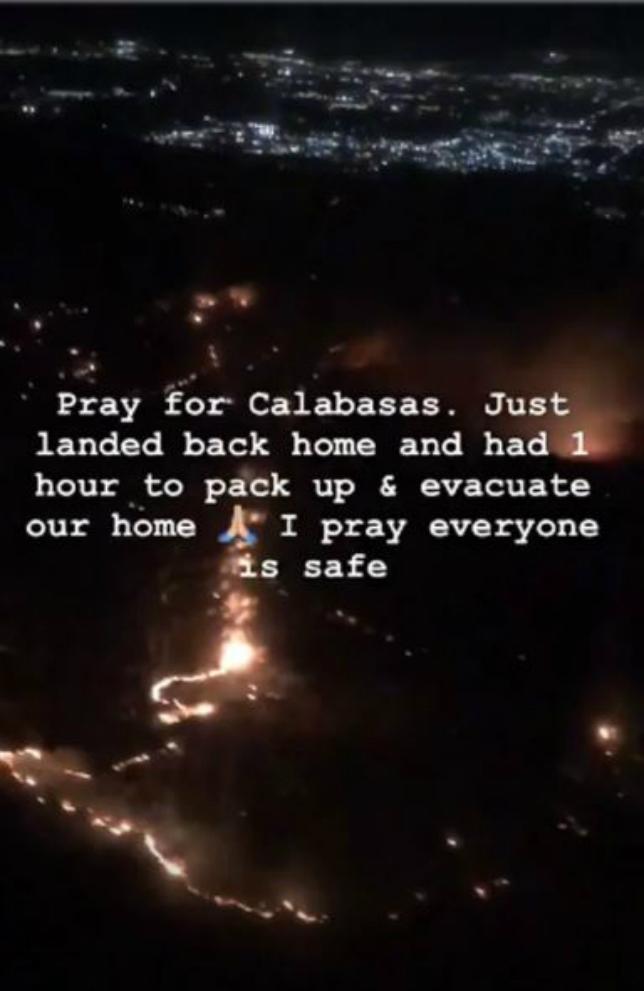 A világsztárok otthonát sem kíméli a kaliforniai tűz - fotó, videó
